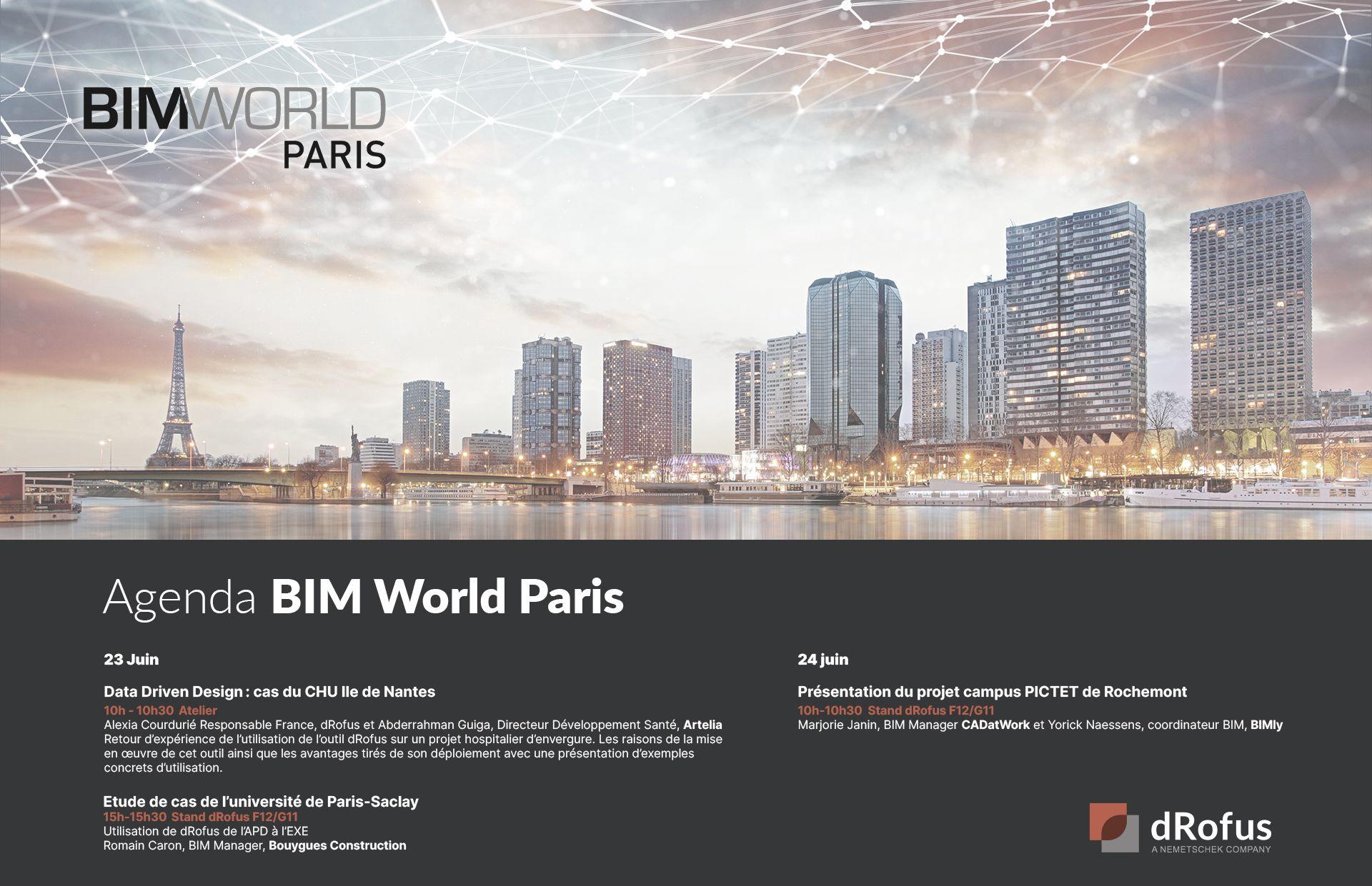 dRofus BIM World Paris
